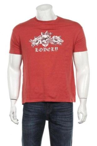 Мъжка тениска Bershka, Размер S, Цвят Червен, Цена 14,70лв.