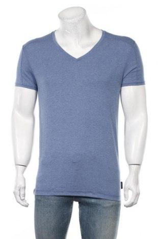 Tricou de bărbați Guess, Mărime M, Culoare Albastru, Bumbac, Preț 145,56 Lei