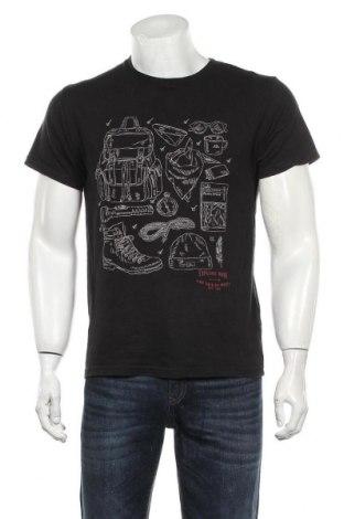 Мъжка тениска H&M L.O.G.G., Размер S, Цвят Черен, Памук, Цена 14,70лв.