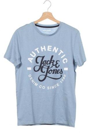 Мъжка тениска Jack & Jones, Размер XS, Цвят Син, Памук, Цена 17,64лв.