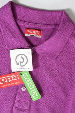Мъжка тениска Kappa, Размер XL, Цвят Лилав, Памук, Цена 28,50лв.