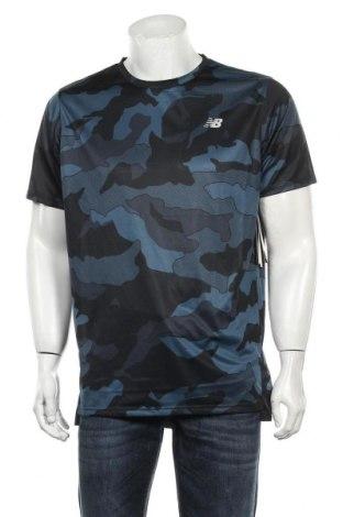 Мъжка тениска New Balance, Размер L, Цвят Син, Полиестер, Цена 48,75лв.