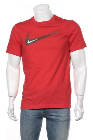 Мъжка тениска Nike, Размер S, Цвят Червен, 100% памук, Цена 37,95лв.