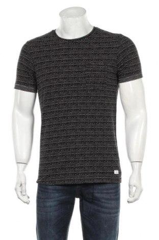Мъжка тениска Q/S by S.Oliver, Размер M, Цвят Черен, 50% полиестер, 38% памук, 12% вискоза, Цена 23,40лв.