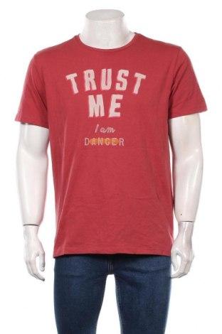 Мъжка тениска S.Oliver, Размер L, Цвят Червен, Памук, Цена 18,00лв.
