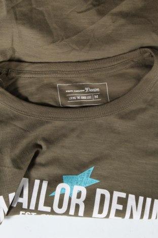 Мъжка тениска Tom Tailor, Размер M, Цвят Зелен, Памук, Цена 24,70лв.