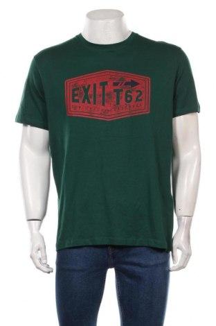 Мъжка тениска Tom Tailor, Размер L, Цвят Зелен, Памук, Цена 31,50лв.