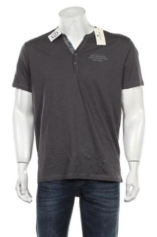 Мъжка тениска Tom Tailor, Размер L, Цвят Сив, Памук, Цена 27,30лв.