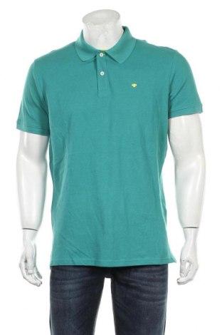 Мъжка тениска Tom Tailor, Размер L, Цвят Зелен, Памук, Цена 34,30лв.