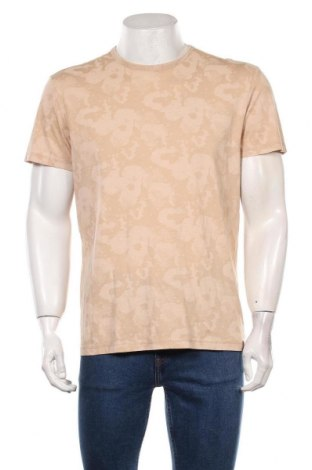 Мъжка тениска Tom Tailor, Размер M, Цвят Бежов, Памук, Цена 31,50лв.