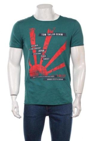 Мъжка тениска Tom Tailor, Размер M, Цвят Зелен, Памук, Цена 28,50лв.