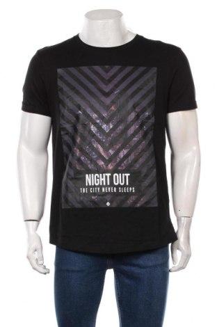 Мъжка тениска Tom Tailor, Размер XL, Цвят Черен, Памук, Цена 31,50лв.