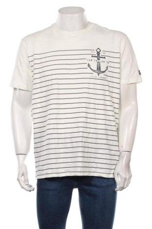 Мъжка тениска Tom Tailor, Размер XXL, Цвят Бял, Памук, Цена 28,50лв.