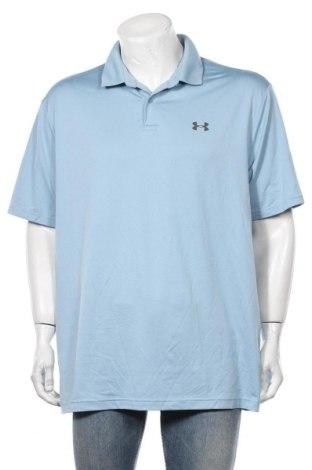 Мъжка тениска Under Armour, Размер XL, Цвят Син, 92% полиестер, 8% еластан, Цена 28,56лв.