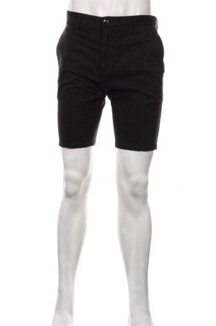 Мъжки къс панталон Hugo Boss, Размер M, Цвят Черен, 98% памук, 2% еластан, Цена 109,62лв.