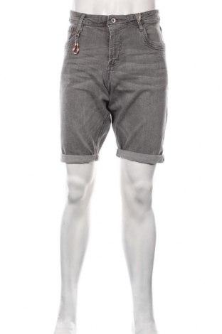 Мъжки къс панталон Tom Tailor, Размер L, Цвят Сив, 98% памук, 2% еластан, Цена 28,32лв.