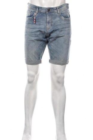 Pantaloni scurți de bărbați Tom Tailor, Mărime M, Culoare Albastru, 98% bumbac, 2% elastan, Preț 131,64 Lei