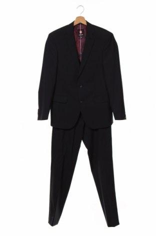 Costum de bărbați Club Of Gents, Mărime S, Culoare Albastru, 68% poliester, 30% lână, 2% elastan, Preț 416,68 Lei