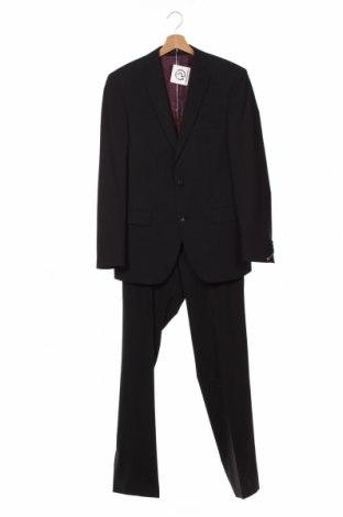 Costum de bărbați Club Of Gents, Mărime S, Culoare Negru, 68% poliester, 30% lână, 2% elastan, Preț 416,68 Lei