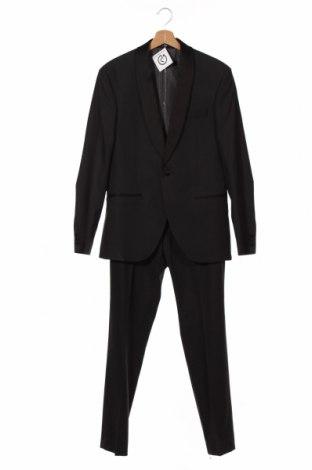 Costum de bărbați Isaac Dewhirst, Mărime M, Culoare Gri, 65% poliester, 35% viscoză, 1% elastan, Preț 381,81 Lei
