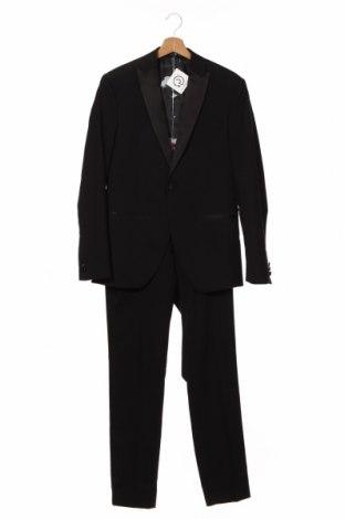 Costum de bărbați Isaac Dewhirst, Mărime M, Culoare Negru, 66% poliester, 32% viscoză, 2% elastan, Preț 388,78 Lei