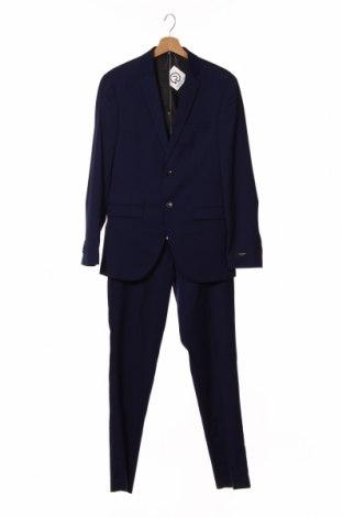 Costum de bărbați Jack & Jones, Mărime M, Culoare Albastru, 74% poliester, 23% viscoză, 3% elastan, Preț 360,04 Lei