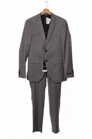 Costum de bărbați Jack & Jones, Mărime M, Culoare Gri, 74% poliester, 23% viscoză, 3% elastan, Preț 233,39 Lei