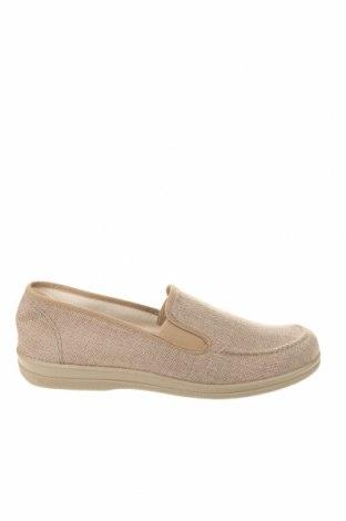 Ανδρικά παπούτσια, Μέγεθος 46, Χρώμα  Μπέζ, Κλωστοϋφαντουργικά προϊόντα, Τιμή 16,36€
