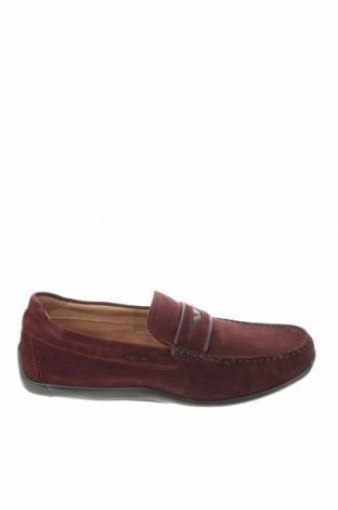 Ανδρικά παπούτσια Geox, Μέγεθος 40, Χρώμα Κόκκινο, Γνήσιο δέρμα, Τιμή 79,02€
