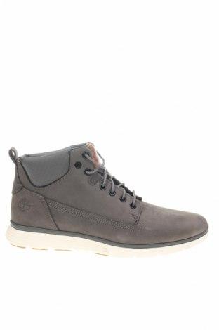 Ανδρικά παπούτσια Timberland, Μέγεθος 41, Χρώμα Γκρί, Φυσικό σουέτ, κλωστοϋφαντουργικά προϊόντα, Τιμή 81,93€