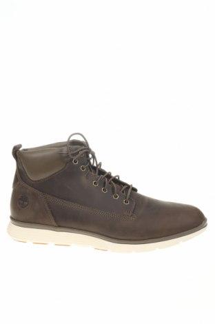 Ανδρικά παπούτσια Timberland, Μέγεθος 46, Χρώμα Καφέ, Γνήσιο δέρμα, κλωστοϋφαντουργικά προϊόντα, Τιμή 81,93€