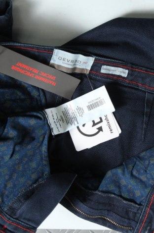 Мъжки панталон Devred 1902, Размер M, Цвят Син, 52% текстил, 45% памук, 3% еластан, Цена 33,82лв.