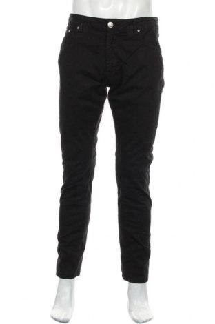 Мъжки панталон Hackett, Размер M, Цвят Черен, 99% памук, 1% еластан, Цена 40,80лв.