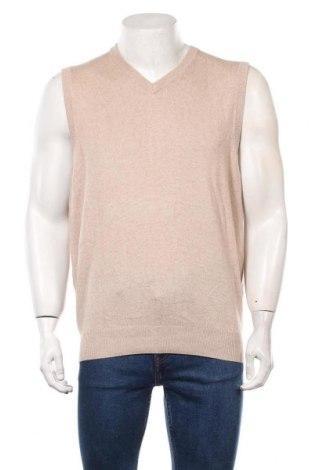 Мъжки пуловер A.W.Dunmore, Размер L, Цвят Бежов, 65% коприна, 35% кашмир, Цена 28,93лв.