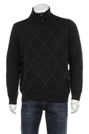 Мъжки пуловер Arrow, Размер L, Цвят Черен, 60% памук, 40% акрил, Цена 33,60лв.
