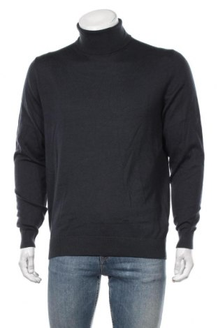 Мъжки пуловер Montego, Размер M, Цвят Син, 55% памук, 40% полиестер, 5% вълна, Цена 27,30лв.