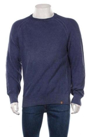 Pulover de bărbați Obey, Mărime M, Culoare Albastru, Bumbac, Preț 74,60 Lei
