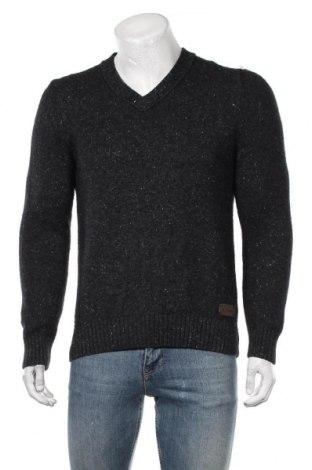 Мъжки пуловер S.Oliver, Размер L, Цвят Сив, 43% вълна, 30% акрил, 20% памук, 7% полиамид, Цена 27,93лв.