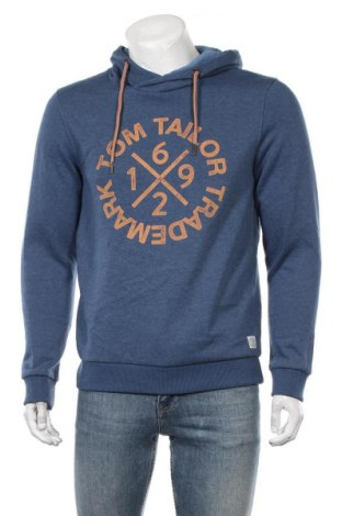 Мъжки суичър Tom Tailor, Размер M, Цвят Син, 60% памук, 40% полиестер, Цена 48,30лв.
