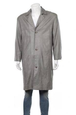 Мъжко кожено яке, Размер L, Цвят Зелен, Естествена кожа, Цена 24,15лв.