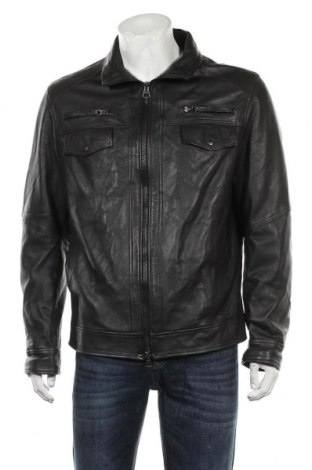 Мъжко кожено яке, Размер XL, Цвят Черен, Естествена кожа, Цена 71,40лв.