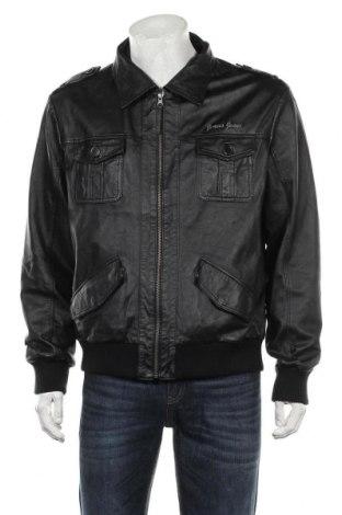 Мъжко кожено яке, Размер M, Цвят Черен, Естествена кожа, Цена 67,20лв.