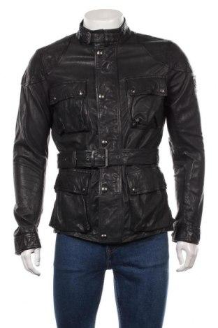 Мъжко кожено яке Belstaff, Размер M, Цвят Черен, Естествена кожа, Цена 622,30лв.