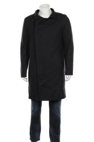 Мъжко палто AllSaints, Размер L, Цвят Черен, 80% вълна, 20% полиамид, Цена 152,25лв.