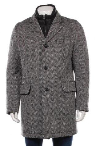 Мъжко палто S.Oliver, Размер L, Цвят Черен, 70% полиестер, 30% вълна, Цена 119,25лв.