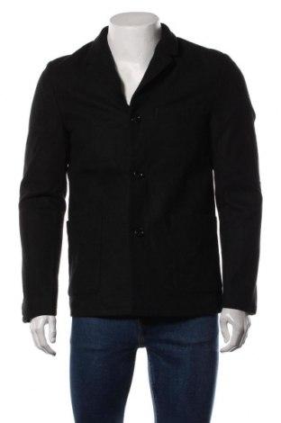 Мъжко палто Tom Tailor, Размер M, Цвят Черен, 90% полиестер, 10% вълна, Цена 90,35лв.