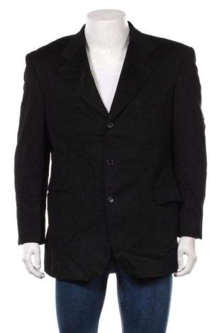 Мъжко сако, Размер L, Цвят Черен, 85% вълна, 15% кашмир, Цена 28,56лв.