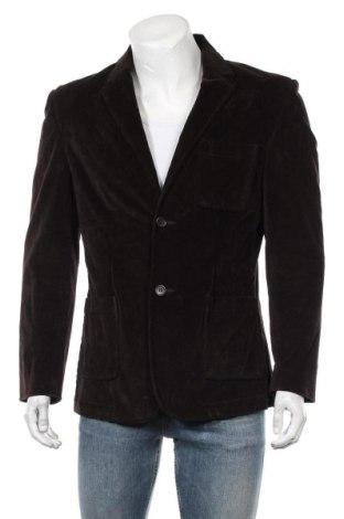 Мъжко сако, Размер S, Цвят Кафяв, 98% памук, 2% еластан, Цена 12,71лв.