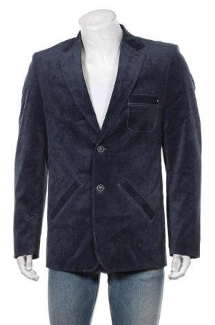 Мъжко сако, Размер M, Цвят Син, 100% полиестер, Цена 27,67лв.