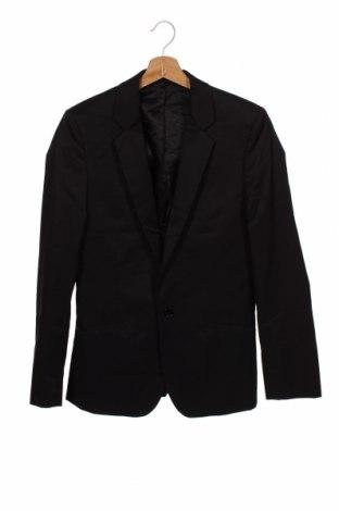 Мъжко сако Bruuns Bazaar, Размер S, Цвят Черен, 49% памук, 48% полиамид, 3% еластан, Цена 34,50лв.